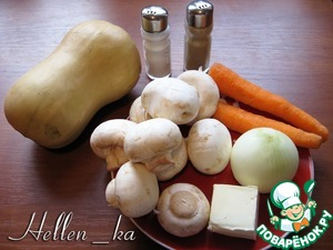 As usual, prepare your ingredients (mushrooms wash and dry the carrots and peel the onion).  Soup forgot to take a picture )))  Better to cook it from fresh or dried mushrooms, but, in extreme cases, you can use a bouillon cube.