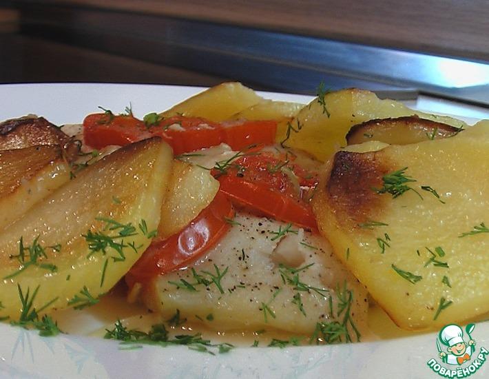Рецепт: Треска с картофелем и луком