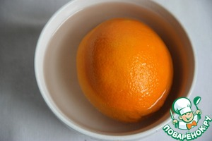 Orange, well washed and scalded with boiling water.