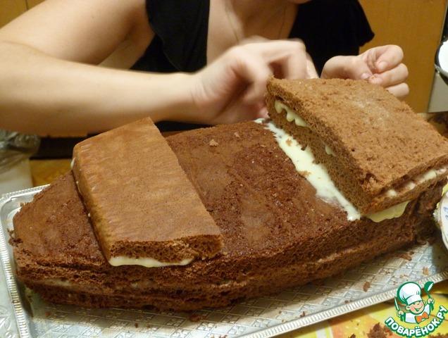 как приготовить торт в виде кораблика дома