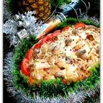 Теплый салат из курицы С праздником!