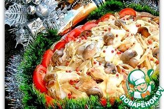 Рецепт: Теплый салат из курицы С праздником!