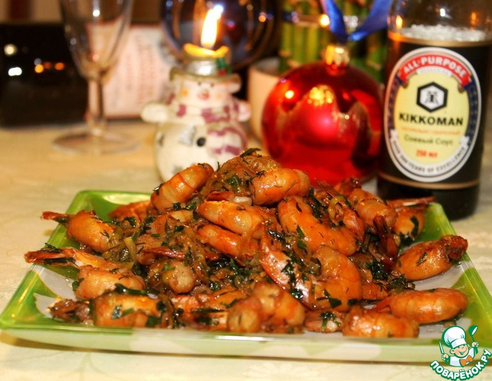 Рецепт: Жареные креветки Привет из Таиланда