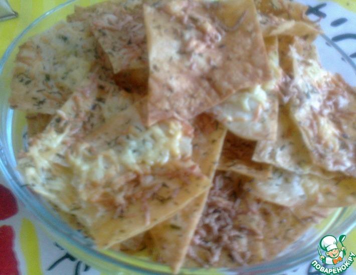 Рецепт: Сырные чипсы