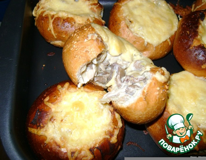 Рецепт: Жюльен в булочке