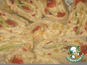 Roll of pita