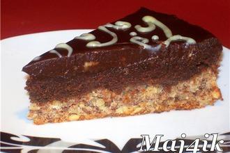 Рецепт: Торт Шоколадный крем на ореховой основе