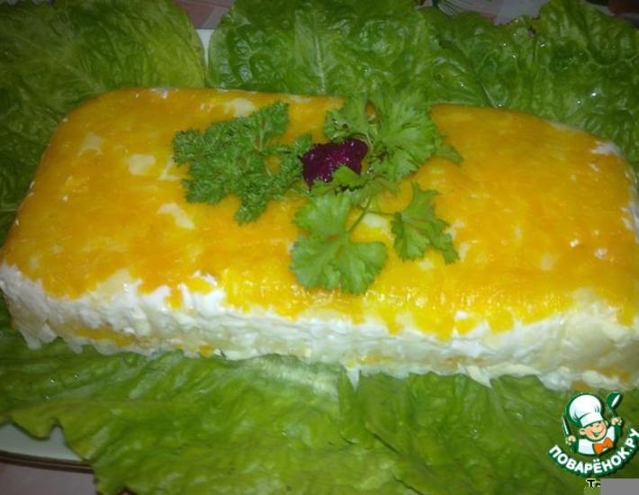 Рецепт: Нежный слоеный салат