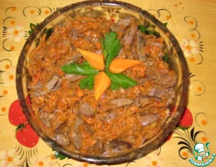 Рецепт: Зимний салат Сердечки