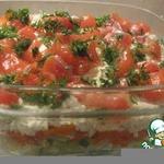 Салат с семгой и огурцом Праздник