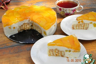 """Рецепт: Творожно-персиковый торт """"Нега"""""""