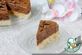 Рецепт: Торт-десерт Шоколадно-банановый мусс