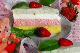 Рецепт: Торт Клубничное Мохито