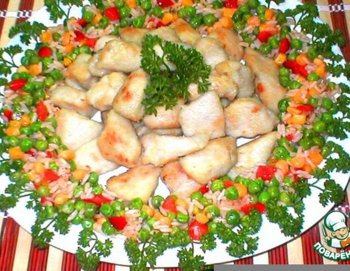 Рецепт: Свиной карбонад из куриного филе