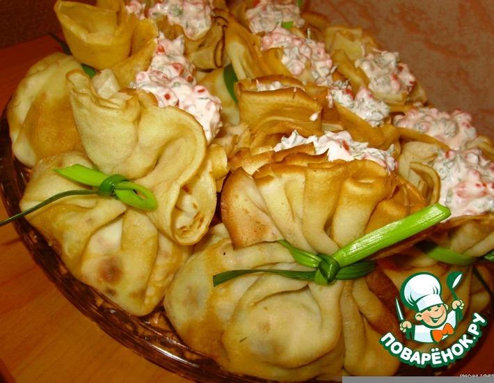 Рецепт: Салат «Волшебные мешочки»