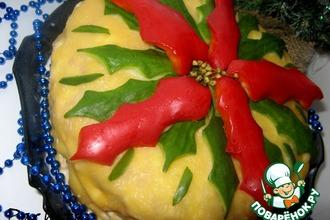 Рецепт: Закусочный торт Рождественский цветок
