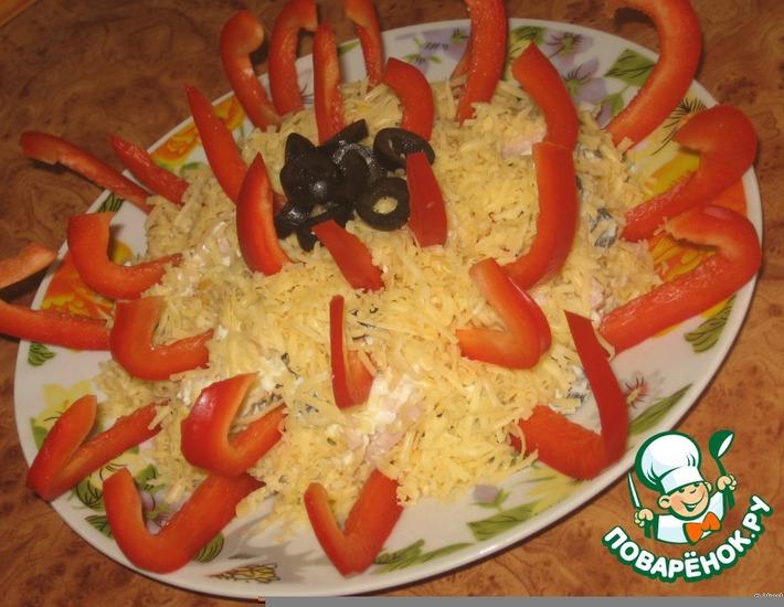 Рецепт: Салат Георгин