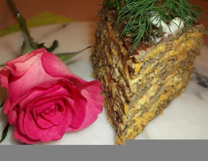 Рецепт: Печeночный торт № 41