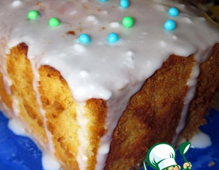 Рецепт: Лимонный кекс с глазурью