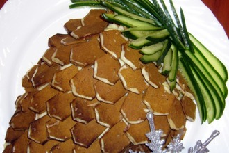 Рецепт: Закусочный торт Кедровая шишка