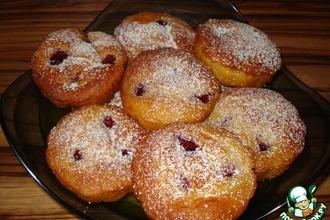 Рецепт: Нежные малиновые маффины на йогурте