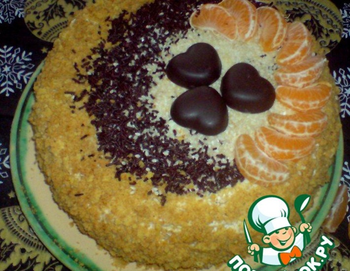 Рецепт: Торт Медовый месяц