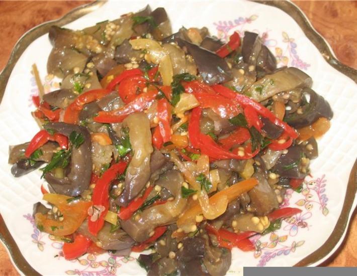 Рецепт: Закусочка из баклажан