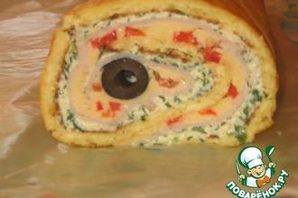 Рецепт: Праздничный сырный рулет