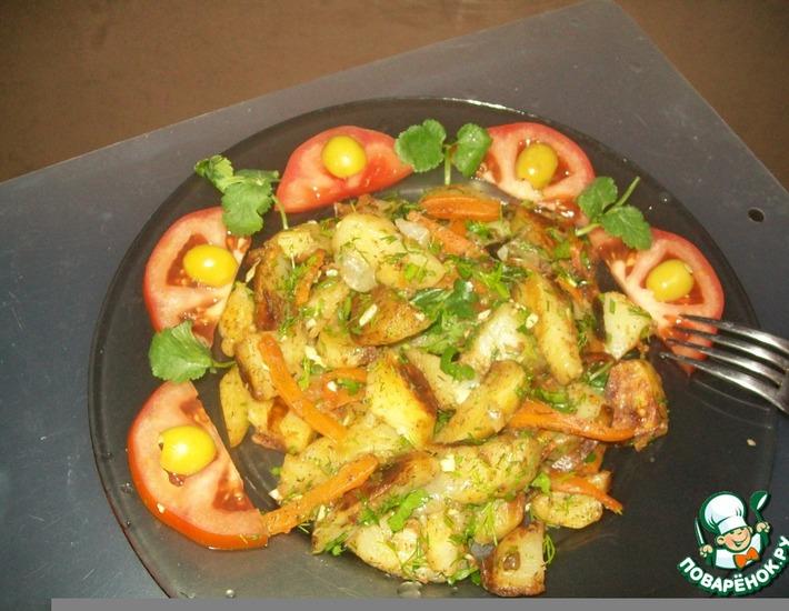 Рецепт: Жареный картофель Хозяйка отдыхает