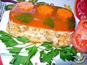Рецепт Рыбный холодец в томатном желе «Для разгону!»