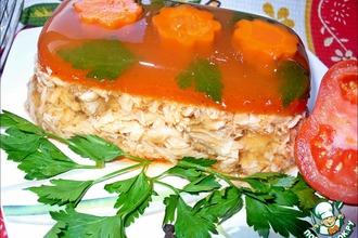 Рецепт: Рыбный холодец в томатном желе «Для разгону!»
