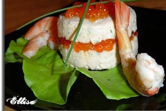 Рецепт: Тимбал из красной рыбы с икрой