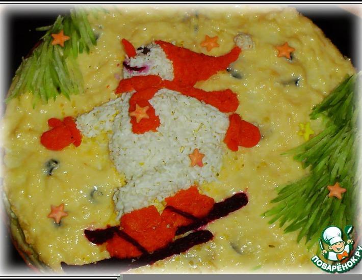 """Рецепт: Закусочный торт """"Снежные виражи"""""""