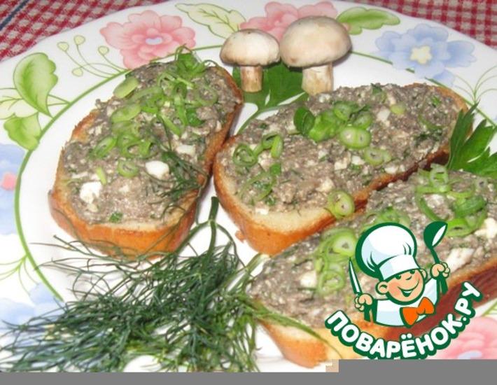 Рецепт: Грибная икра с зеленым луком