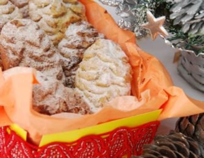 Рецепт: Ореховое печенье Шишки