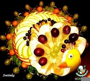 Fruit pizza without baking