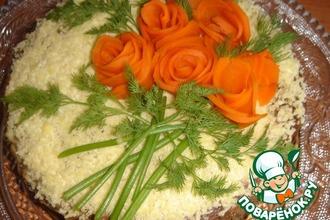 Рецепт: Печеночный торт Для любимого мужа