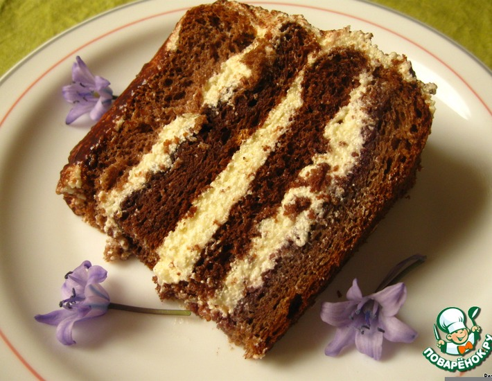 Рецепт: Торт Птичье молоко по-королевски