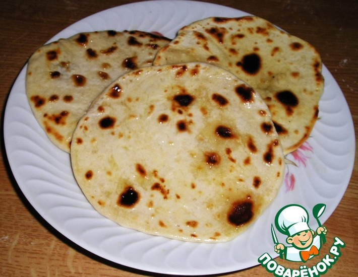 Рецепт: Индийские лепешки Чапати