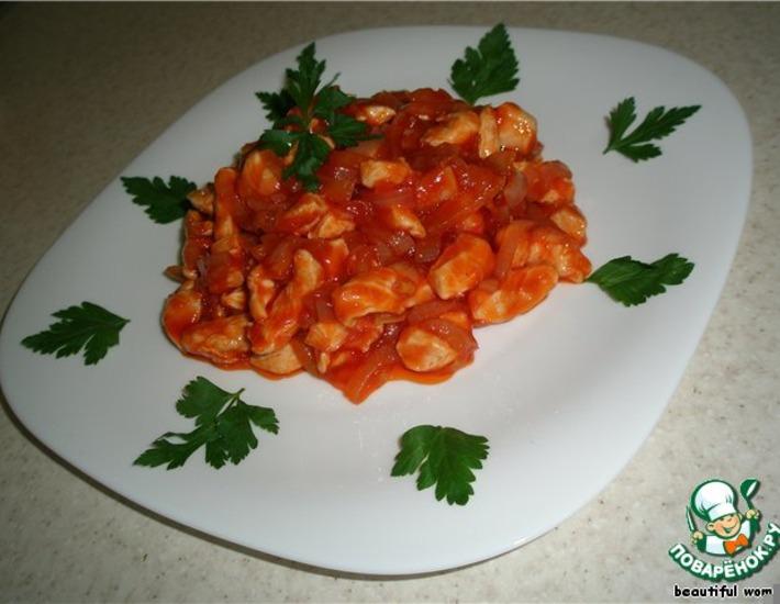 Рецепт: Шашлычный салат
