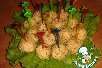Рецепт: Сырные шарики Сюрприз