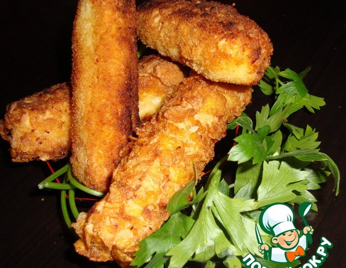 Рецепт: Сырные батончики