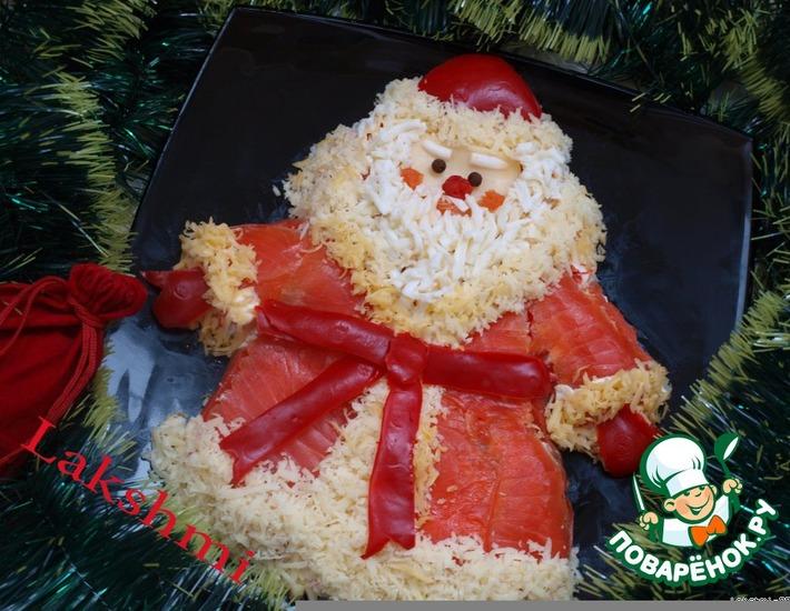"Рецепт: Салат ""Дед Мороз - красный нос"""