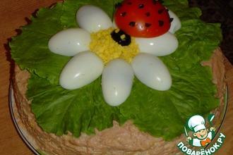 Рецепт: Блинный торт Лето