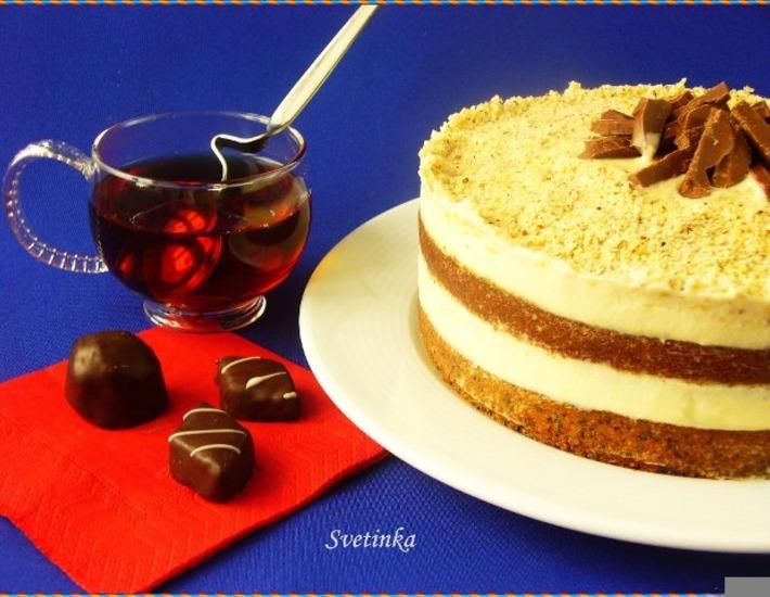 Рецепт: Маково-ореховый торт со сгущенкой