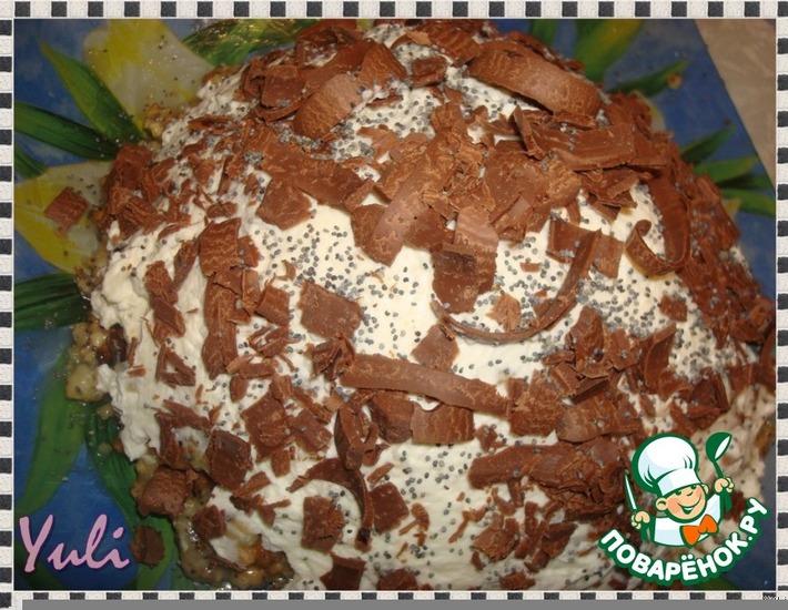 Рецепт: Торт Муравейник под снегом