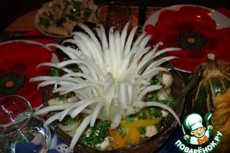 Рецепт: Салат из свежих шампиньонов