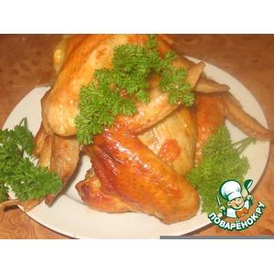 Курица в чесночно-медовом маринаде