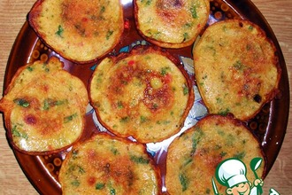Рецепт: Пудла-индийские томатные оладьи без яиц