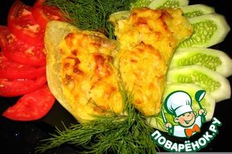 Рецепт: Запеченный сладкий перец, фаршированный карри